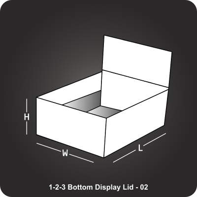 123 Bottom Display Lid Box