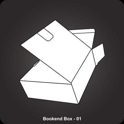 Custom Printed Bookend Box