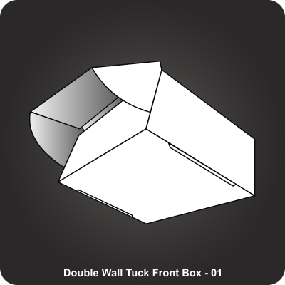 Custom Printed Double Wall Tuck Front Box