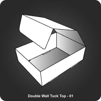 Custom Boxes Double Wall Tuck Top Box