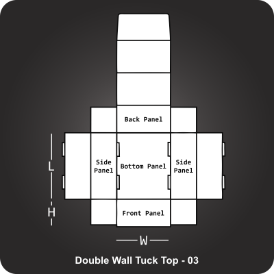 Double Wall Tuck Top Box