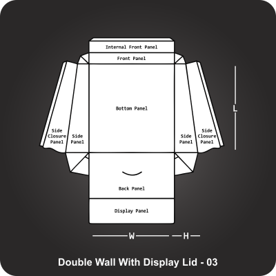 Double Wall With Display Lid Box