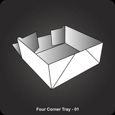 Custom Printed Four Corner Tray