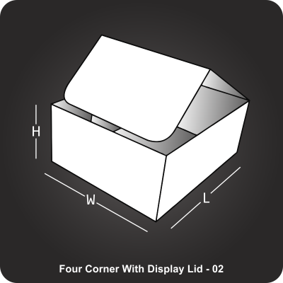 Four Corner With Display Lid Box