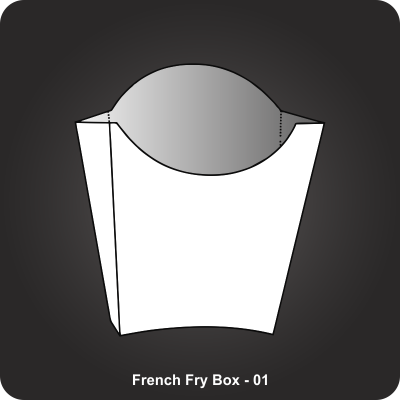 Custom Printed French Fry Box