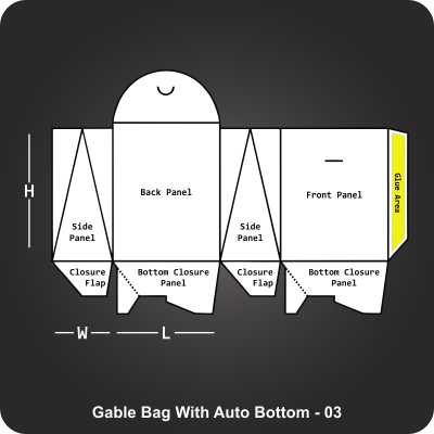 Gable Bag With Auto Bottom