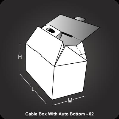 Gable Box With Auto Bottom