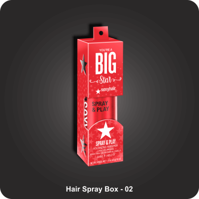 Hair Spray Boxes
