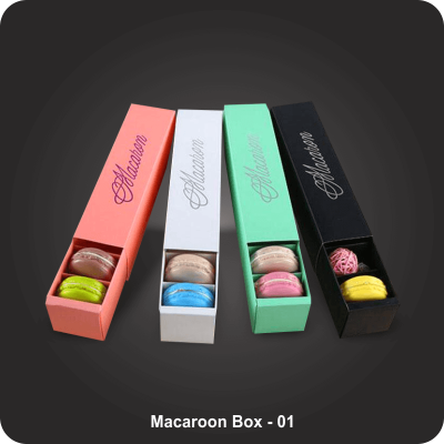 Custom Printed Macaroon Boxes
