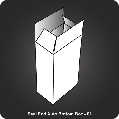 Custom Printed Seal End Auto Bottom Box