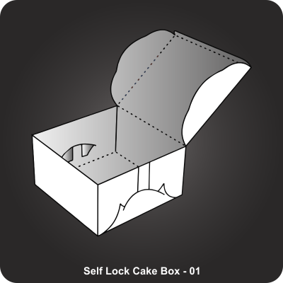 Custom Printed Self Lock Cake Box
