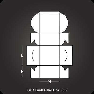 Self Lock Cake Box