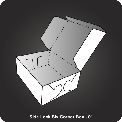 Custom Printed Side Lock Six Corner Box