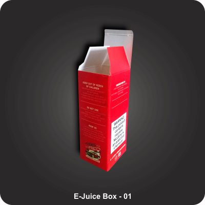 Custom Printed E-Juice Boxes